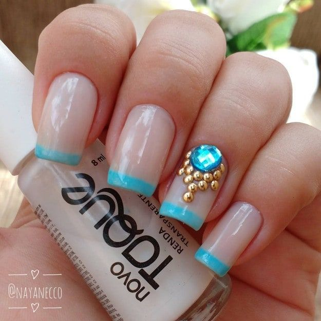 17 Cute French Nail Designs To Celebrate Bastille Day French Nails