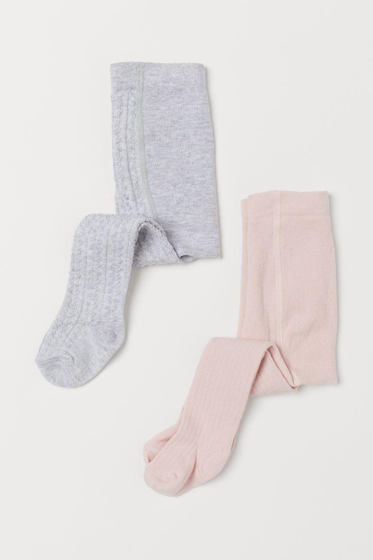 Kids Girls Rib Cable Knit Cotton Dress Tights