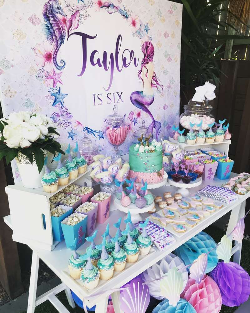 Birthday Table Top Decorations: Mermaid Birthday Party Ideas In 2019
