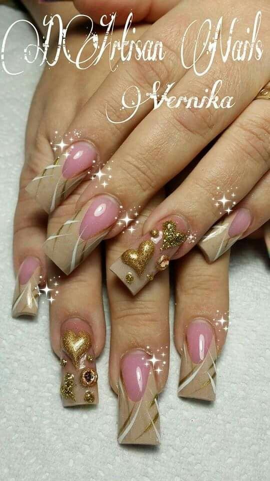 Cremas | Nail art/Nail color | Pinterest | Diseños de uñas, Uñas ...