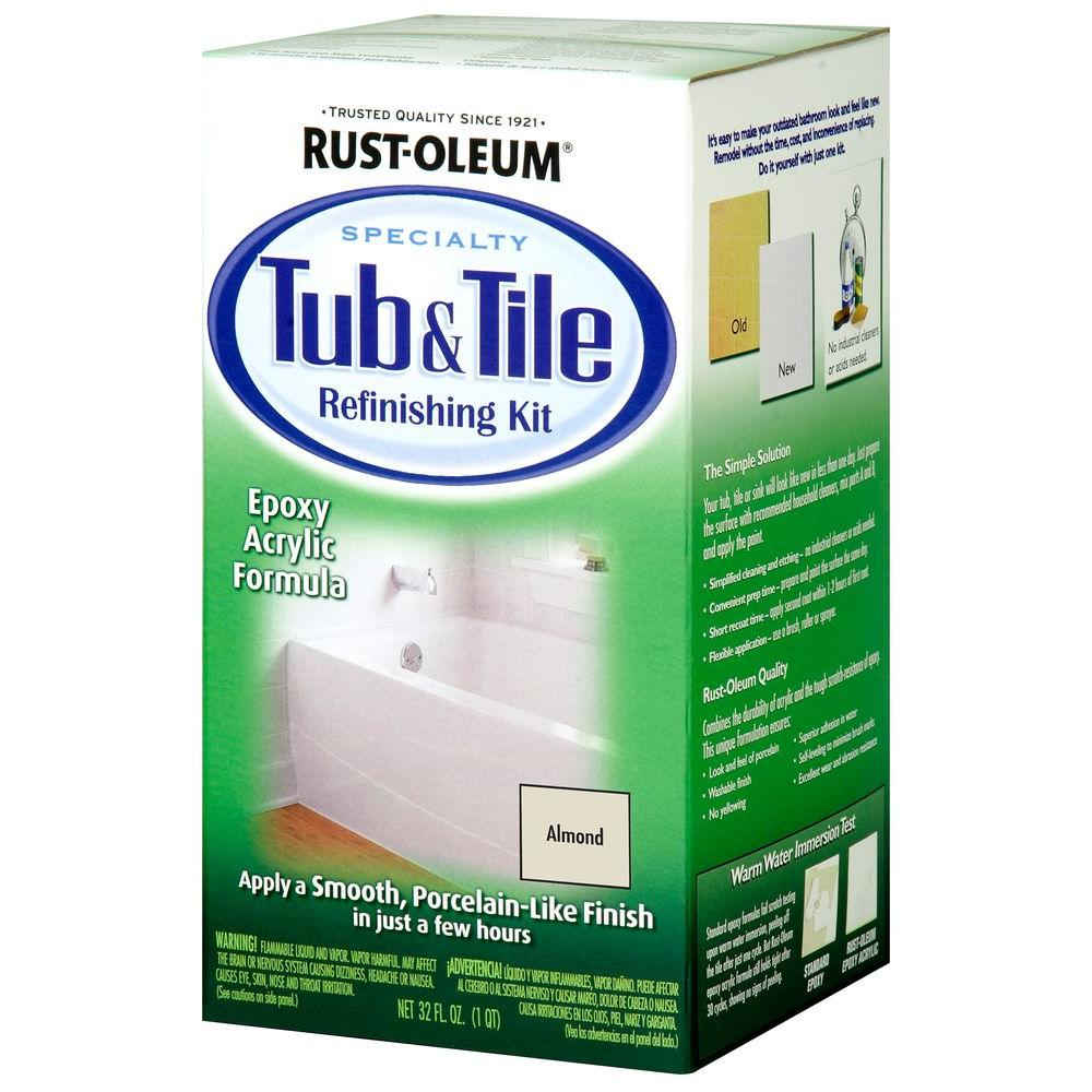 Rust Oleum Specialty 1 Qt Almond Tub And Tile Refinishing Kit