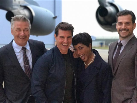 The Missionimpossible Cast Has A Great Time Together On Set Alecbaldwin Tomcruise Angelabasset Henrycavill Mi Tom Cruise Henry Cavill Mission Impossible