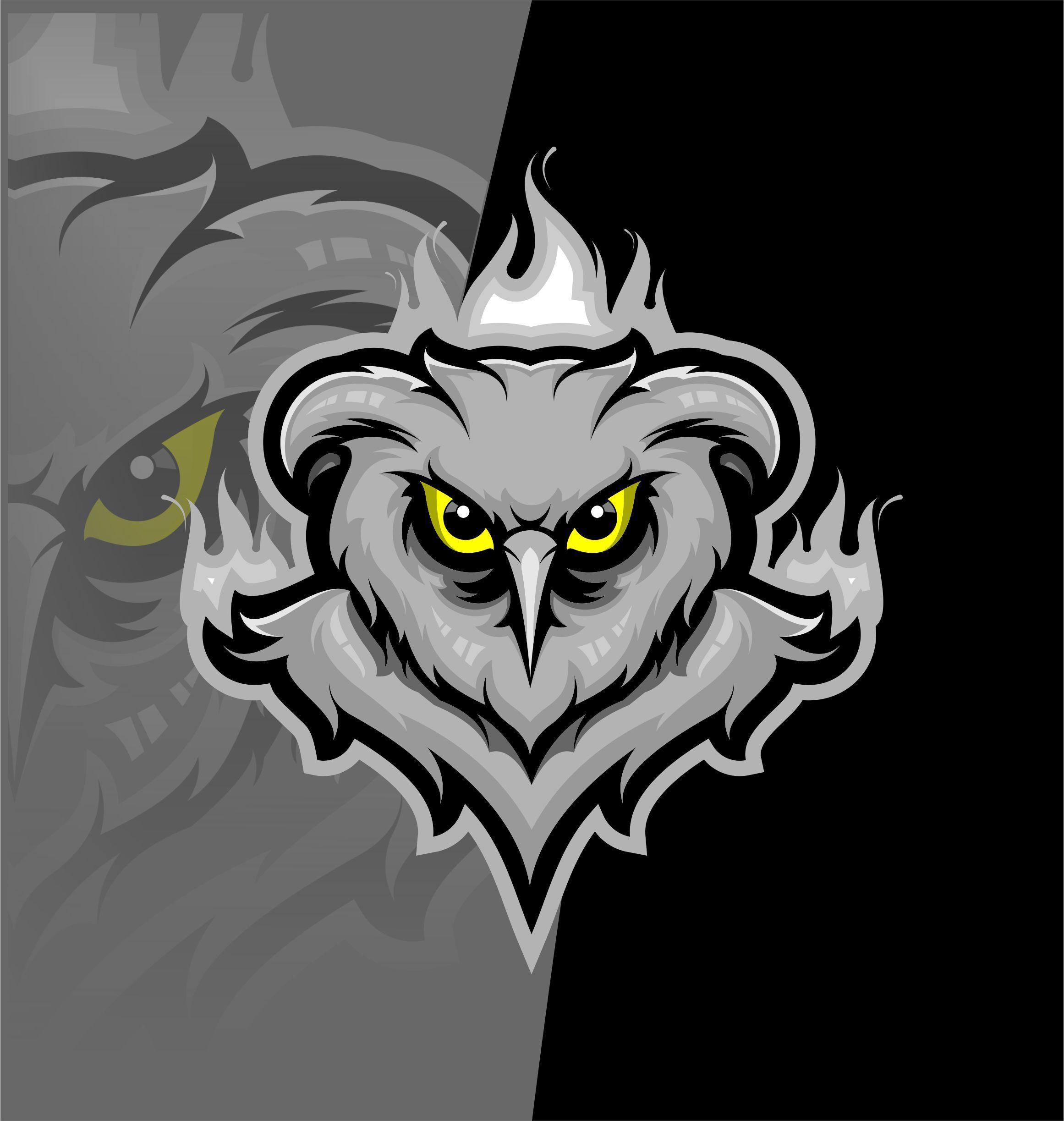 Esport owl logo di 2020 Logo keren, Hewan, Seni