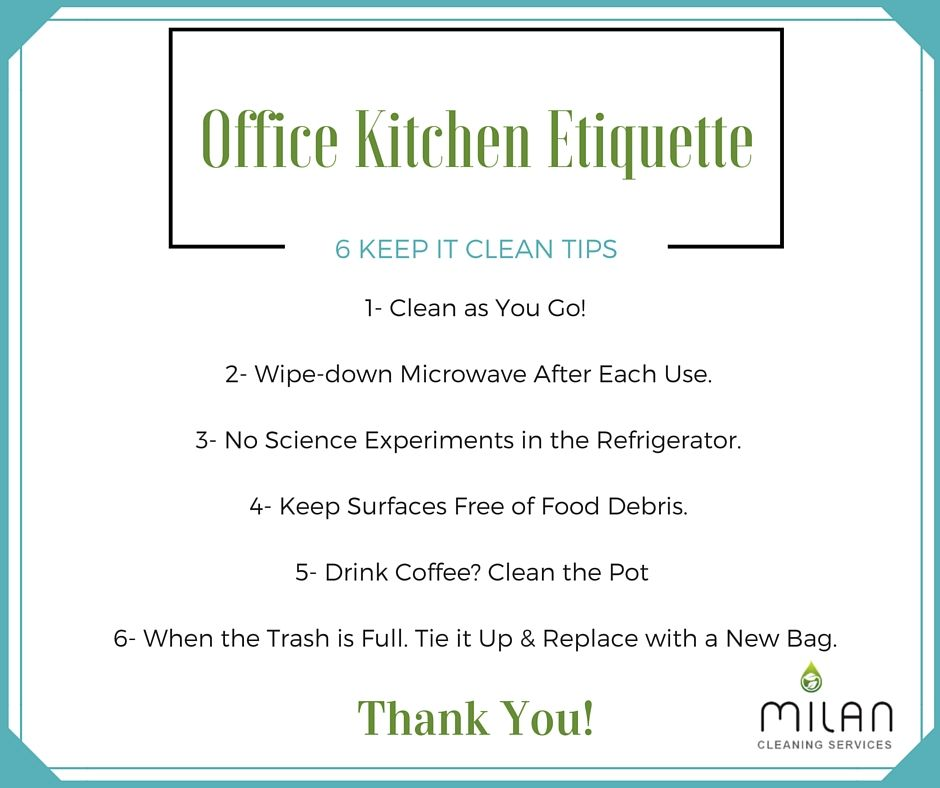 Clean Office Kitchen Office Kitchen Etiquette 6 Keep It Clean Tips
