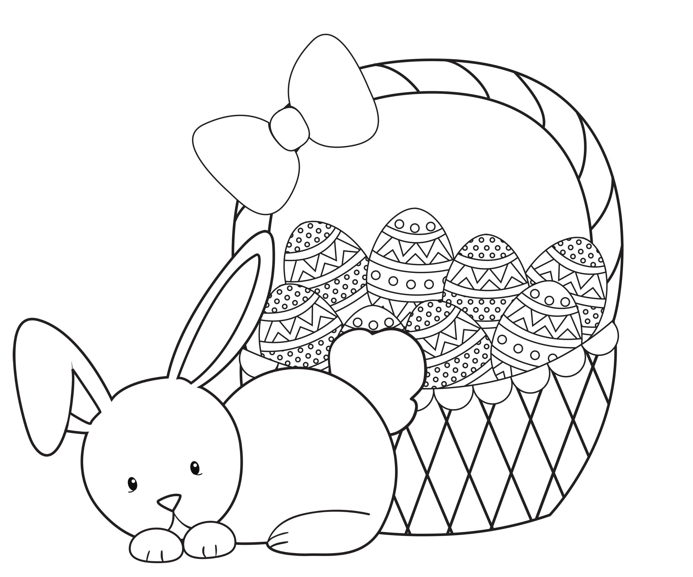 Easter Coloring Pages For Kids With Images