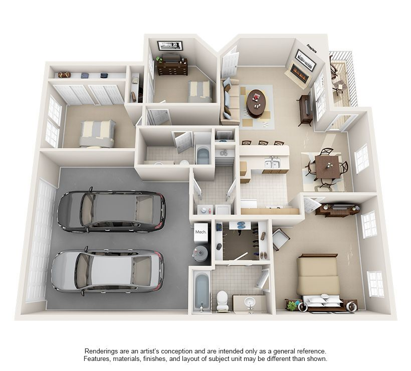 Luxury 1 2 3 Bedroom Apartments In Indianapolis In Indianapolis Indiana Apartment St Small Apartment Floor Plans House Layout Plans Apartment Layout