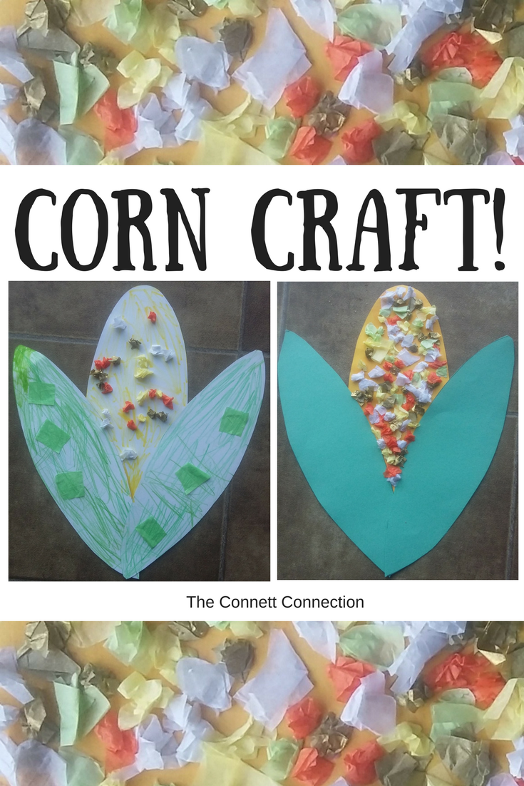 Corn Craft With Step By Step Instructions Corn Corncraft Thanksgiving Harvest H Preschool Art Activities Thanksgiving Activities For Kids Harvest Crafts