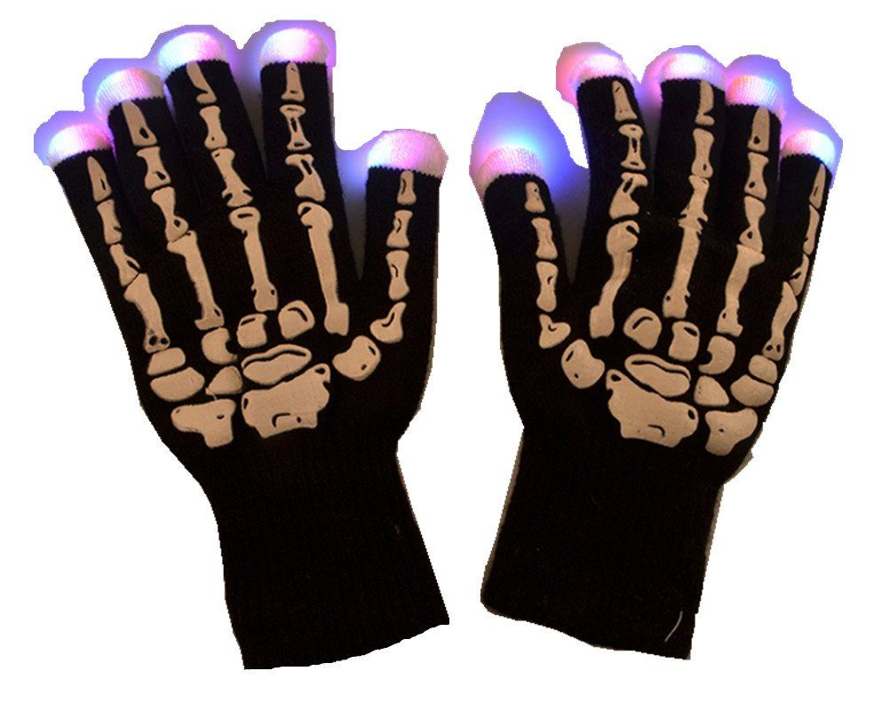 Emoyi Rave Glove 7 Mode LED Gloves Skeleton Style Lighting Gloves Flashing for Party --  sc 1 st  Pinterest & Emoyi Rave Glove 7 Mode LED Gloves Skeleton Style Lighting Gloves ...