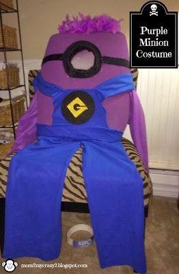 DYI Minion Costumes Made (Purple Version)