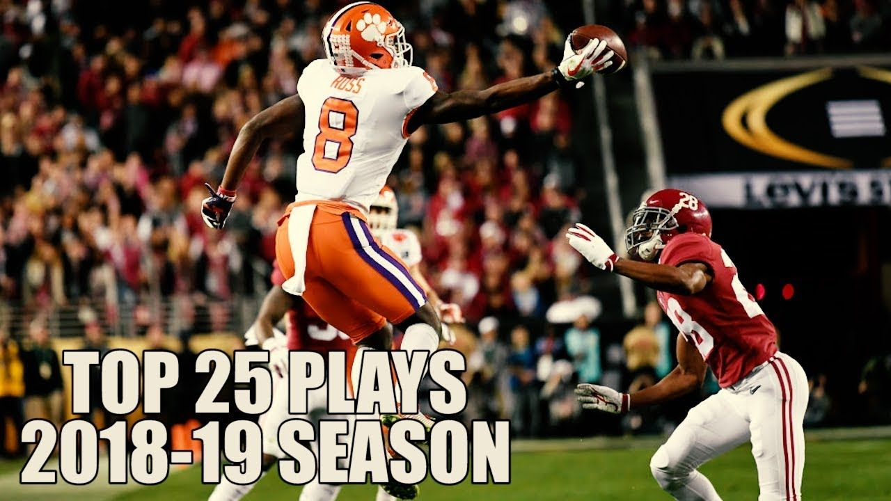 College Football Top 25 Plays 201819 Season ᴴᴰ College