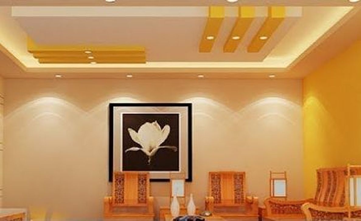 Cool 45 Awesome Simple Ceiling Designs For Living Room Mor