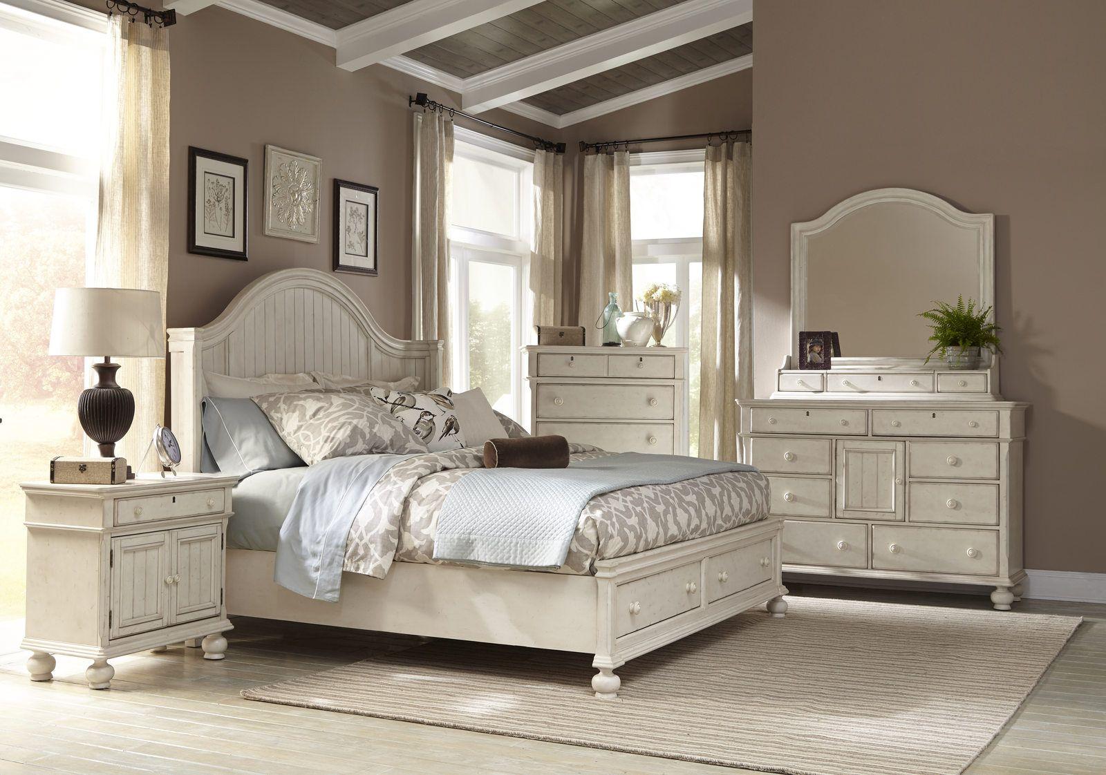Best American Woodcrafters Newport 4 Piece Panel Bedroom Set W 400 x 300