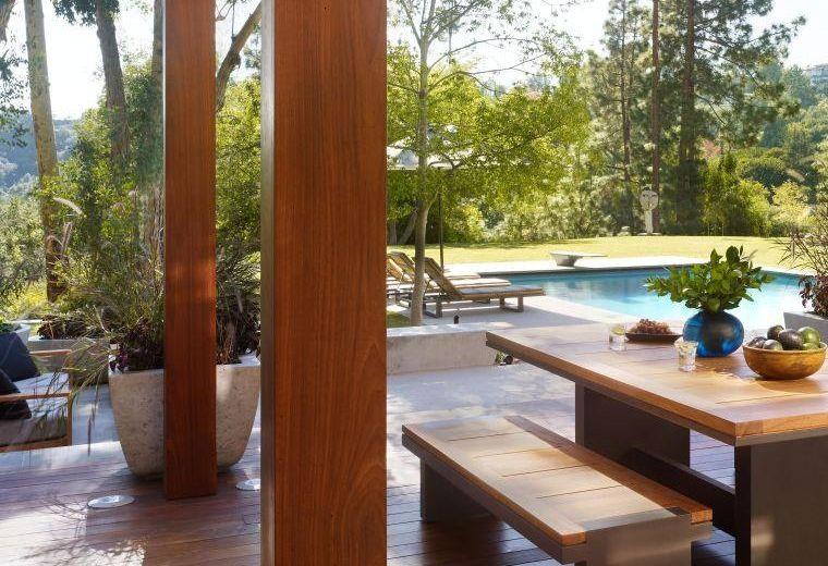 terraza cubierta madera natural Alberca Pinterest Terrazas