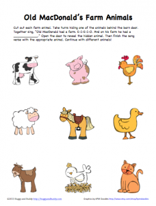 peek a boo farm animals activity free printable