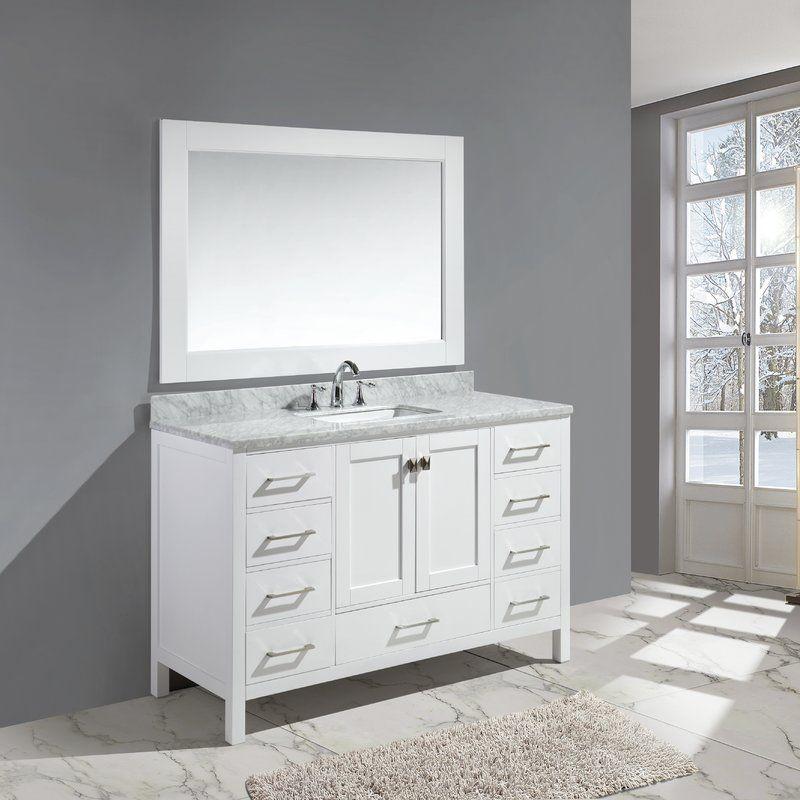Middletown 54 Single Bathroom Vanity Set With Mirror Modern