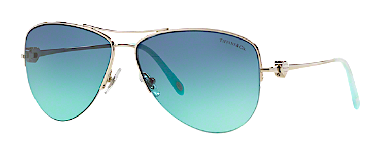 1b2844ec885a3 TIFFANY   CO TF 3021 60029S SILVER METAL TRIM WITH BLUE GRADIENT LENSES As  part of