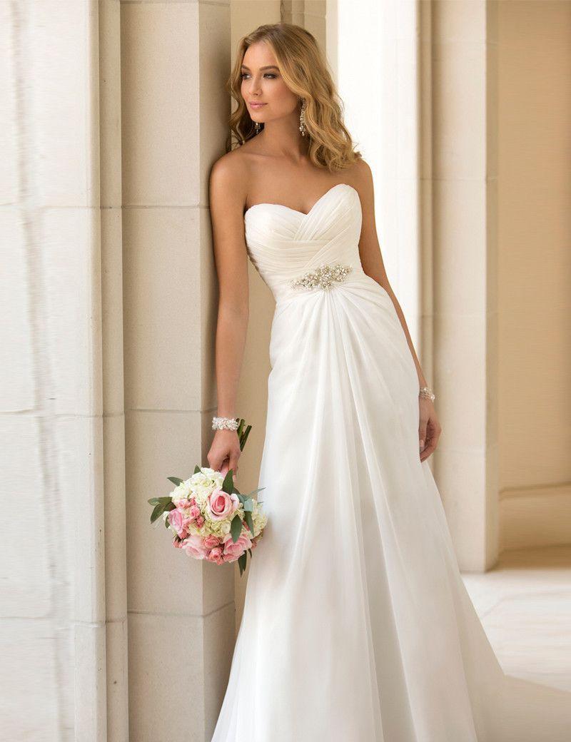 Boho wedding dress - empire | Wedding dress bohemian, Bohemian and ...