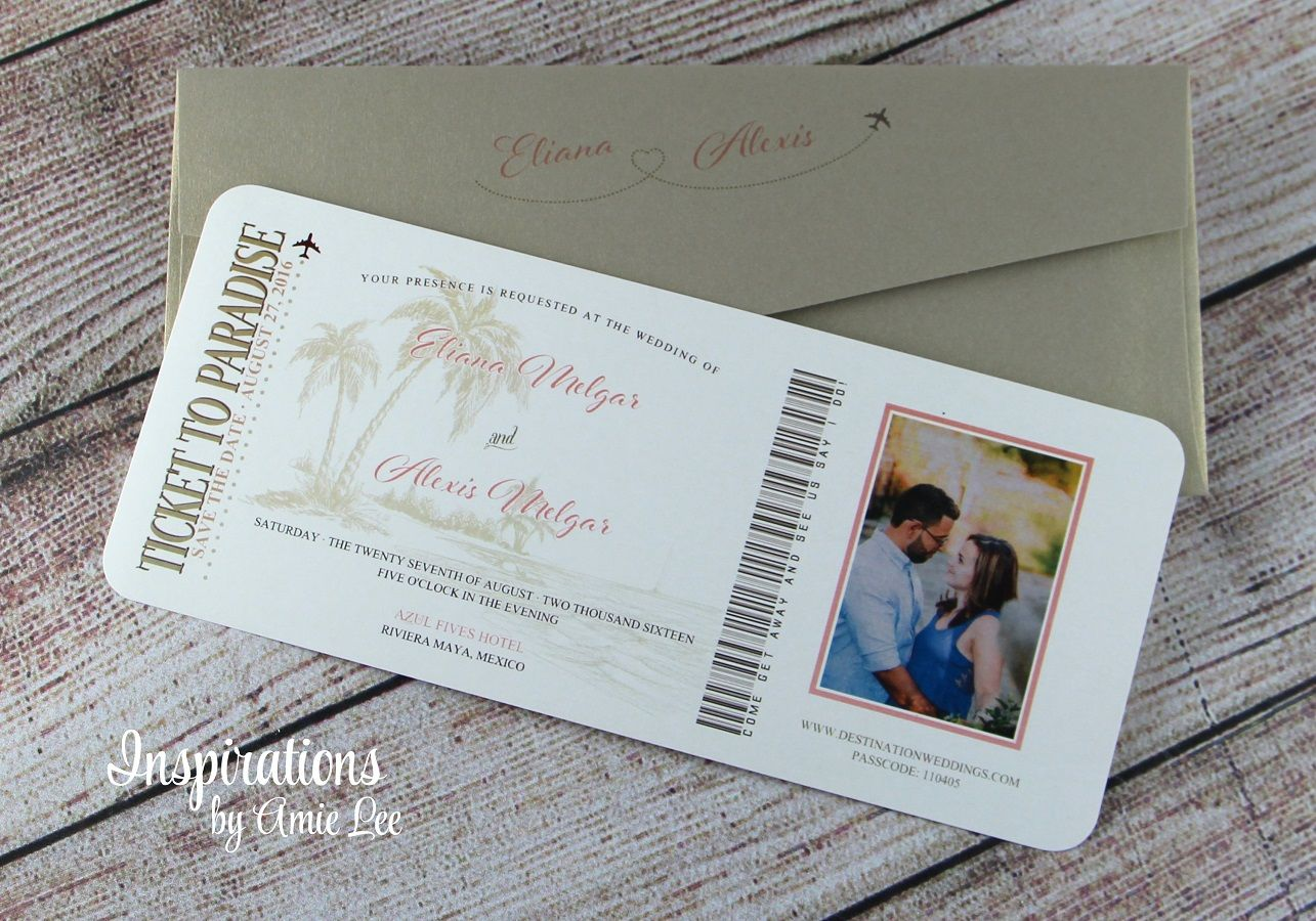 Boarding Pass save the date, Destination Wedding, Boarding