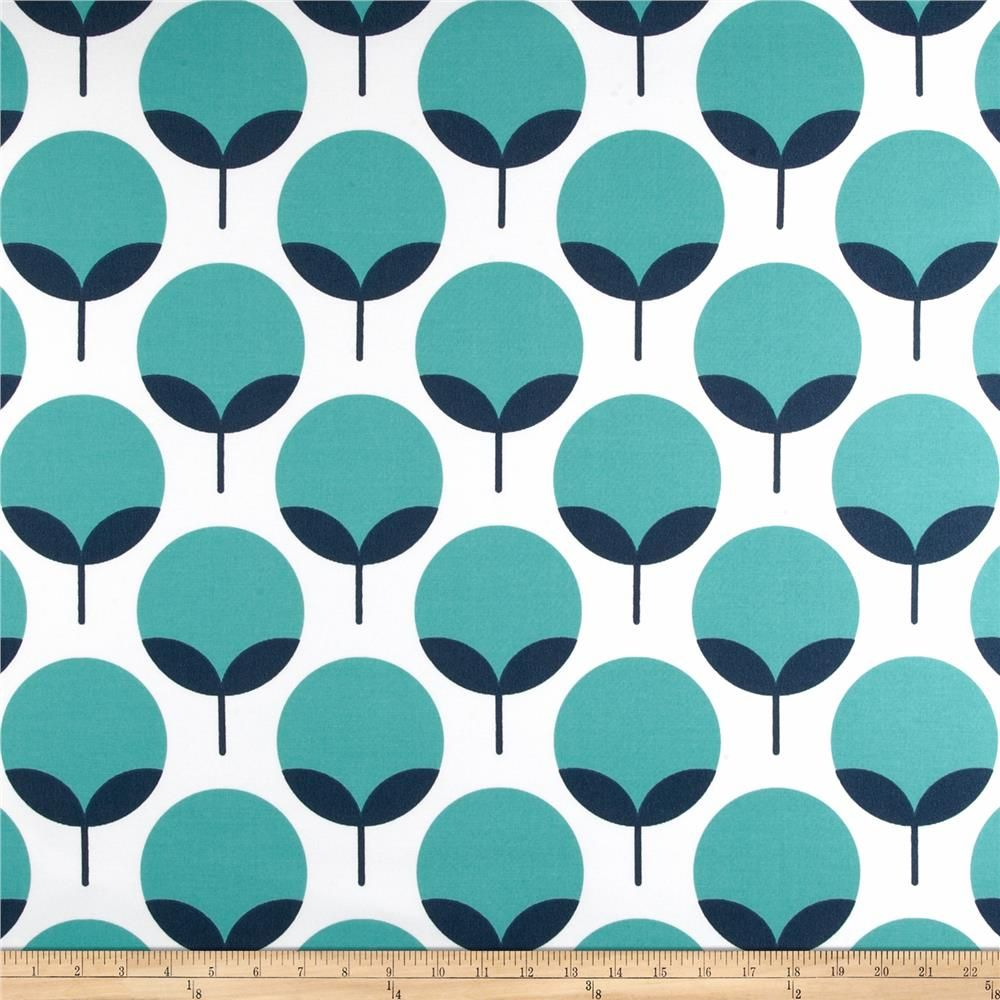 Premier Prints Indoor/Outdoor Caroline Oxford/Ocean from @fabricdotcom