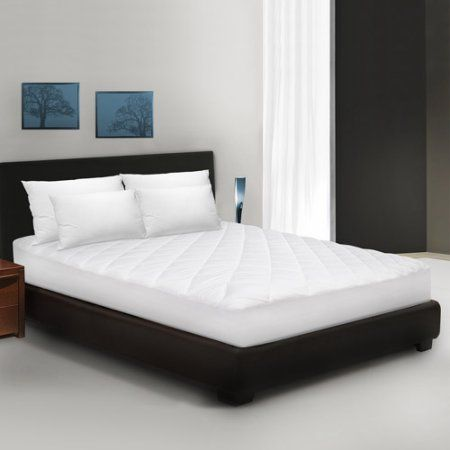 BioPEDIC Classic Cotton Quilted Mattress Pad, White