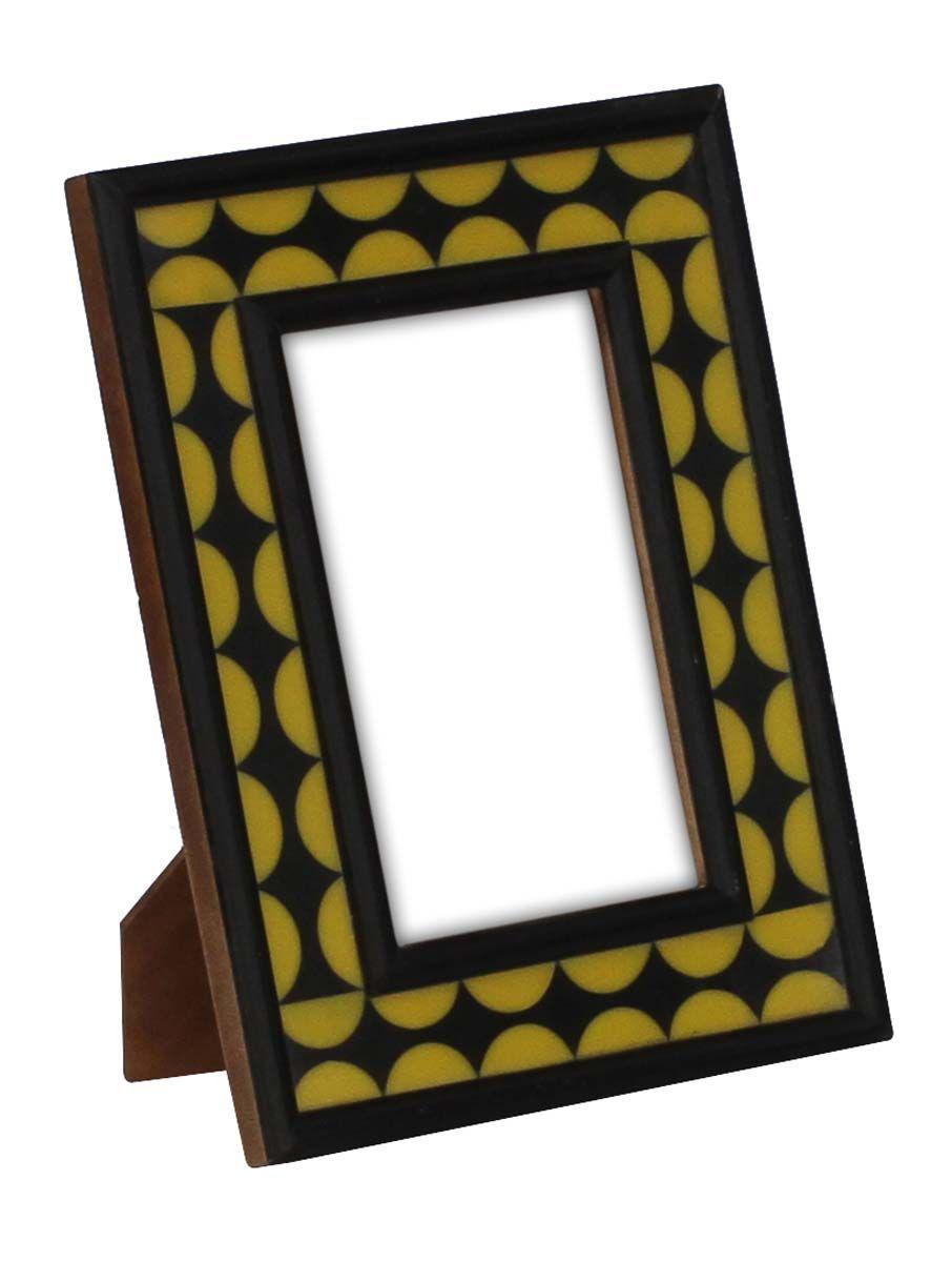 Bulk Wholesale Handmade Rectangular Shaped Photo Frame In Wood Acrylic Yellow Color Semi Circle Shaped Pa Handmade Photo Frames Frame Unique Picture Frames
