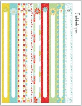 diy printable binder spines 1 inch 1 5 inch and 2 inch binder