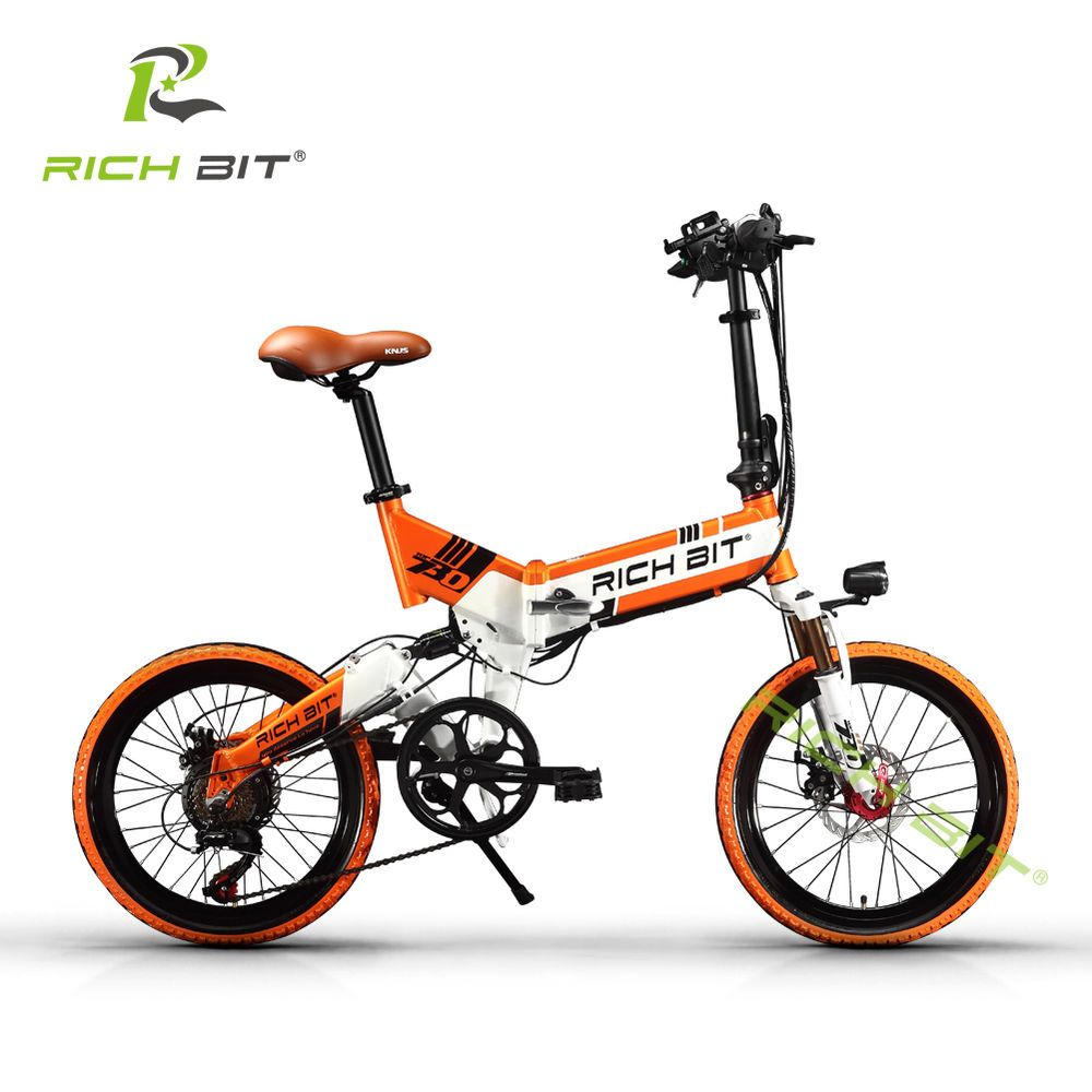 250w 48v Electric Mini Folding Bike Bmx 20 Wheel Spokes Bicycle Rich Bit Rt 730 Folding Electric Bike Bike Electric Bike