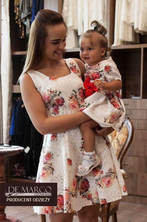 7149c812f9 Sukienka w kwiaty na wesele dla mamy i córki. Szycie na miarę De Marco   fashiondesign  dresses  fashionpost  demarco  europe  warsaw  elegant   beautiful ...