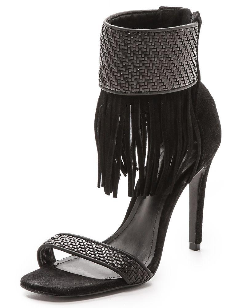 Schutz Tekhina Fringe Sandals