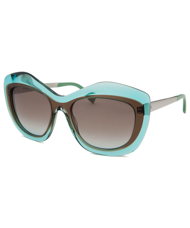 FENDI WOMEN'S FASHION TRANSLUCENT BLUE & BROWN SUNGLASSES 54 MM'. #fendi #sunglasses
