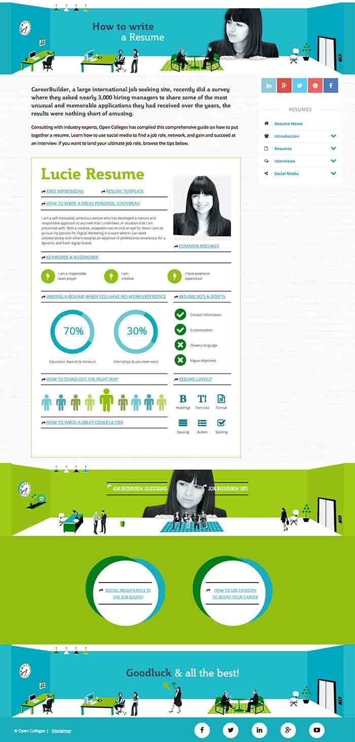 How To Write A Resume Infographic  Infographics Career
