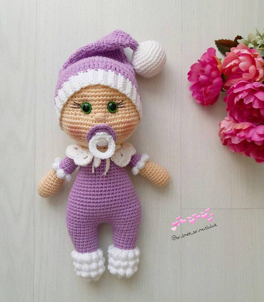 Doll Pacifier Baby Free Crochet Pattern in 2020 | Crochet doll clothes free  pattern, Amigurumi doll, Doll patterns free | 1024x895