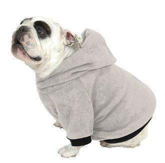English Bulldog Hoodie Sweatshirt Heather Grey English Bulldog