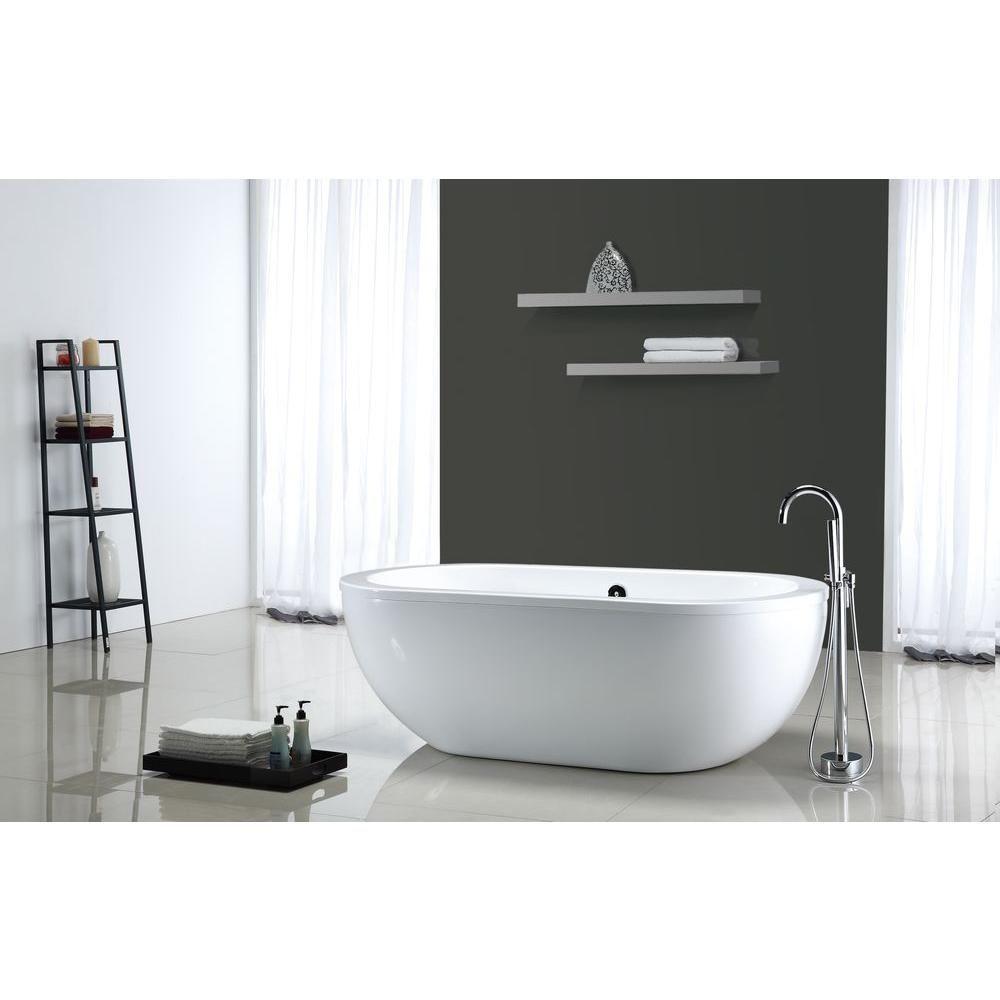 OVE Decors Serenity 5.9 ft. Center Drain Bathtub in White | Bathtubs ...