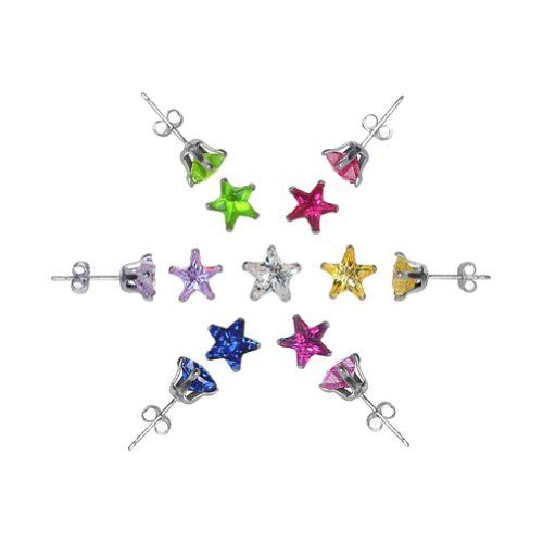 TDEZ2470SET-B Sterling Silver 4mm Star Cubic Zirconia Back Post of 7 Colors CZ Stud Earrings Set Gem Avenue,http://www.amazon.com/dp/B0036FCLEO/ref=cm_sw_r_pi_dp_-7DJsb1X12B07EZR
