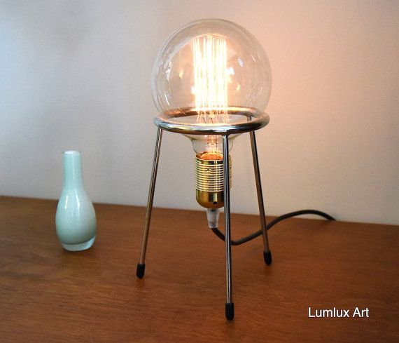 Tafellamp Met Globe Lamp Retro Kabel Pruimkleurig Etsy Globe Lamps Lamp E27 Light Bulb