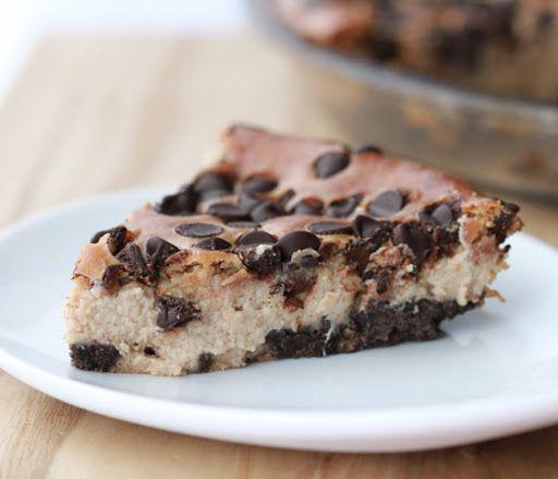peanut butter chocolate chip cheescake/ pie #vegan