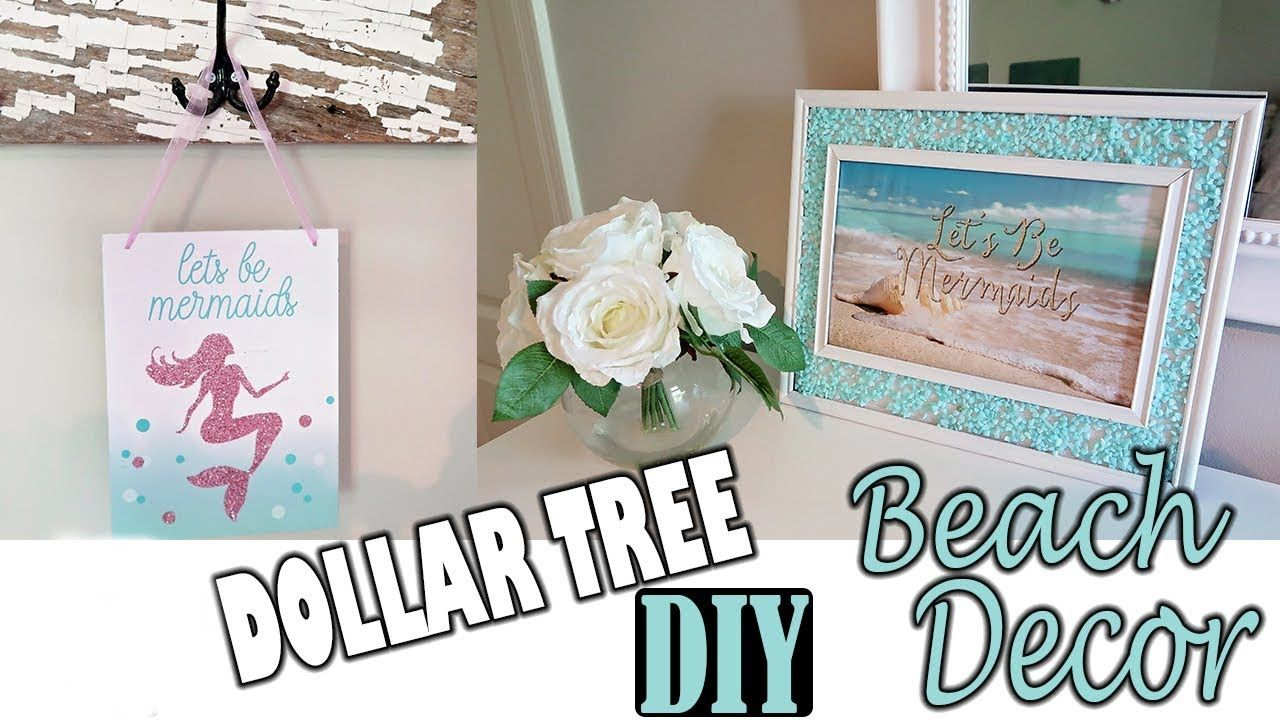 Dollar tree diy beach mermaid room decor project