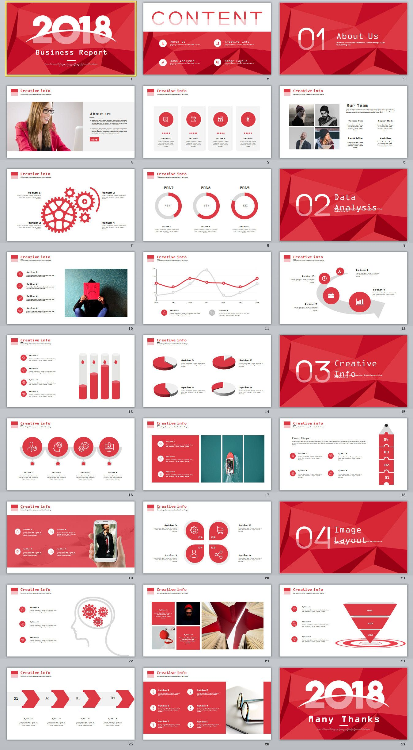 27 red business year plan powerpoint template on behance