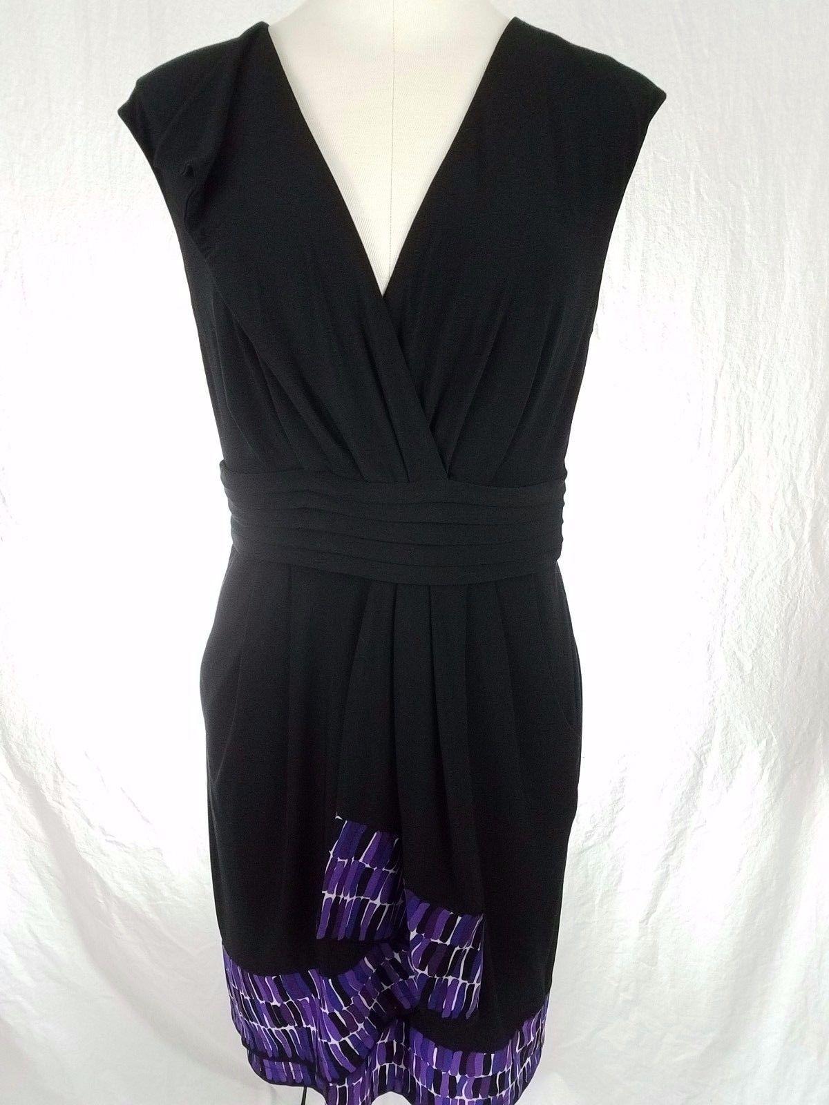Nice amazing mazandcleo little black dress with purple detailing