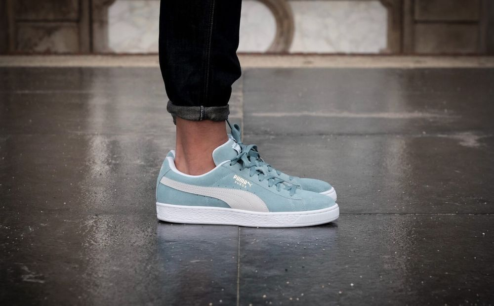 1cb8a2676 PUMA SUEDE CLASSIC AQUIFER   PUMA WHITE SNEAKERS IN ALL SIZES  adidas   RunningShoes
