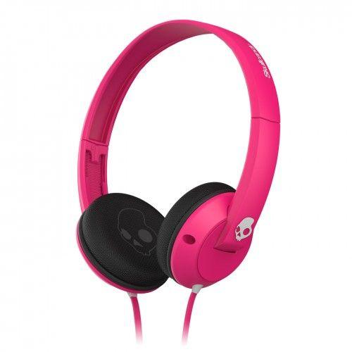 Uprock Pink Black Gray W Mic1 Skullcandy Headphones Wired Headphones