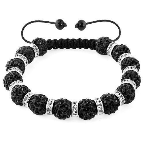 SHAMBALLA BRACELET with 9 Disco Pearls y4eYUD8