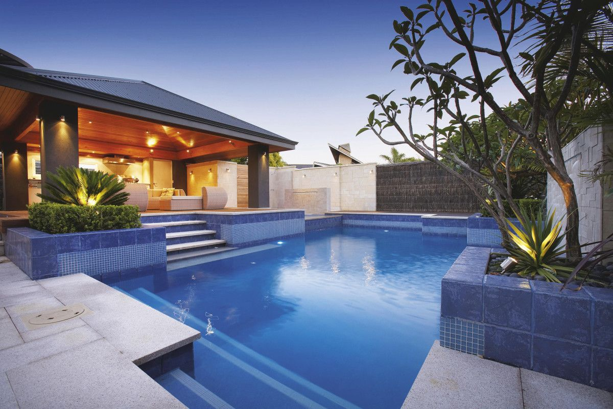Backyard Landscaping Ideas For Swimming Pool Design By Homesthetics Architecture Art And Design Small Backyard Pools Swimming Pools Backyard Backyard Pool Modern backyard pool landscaping