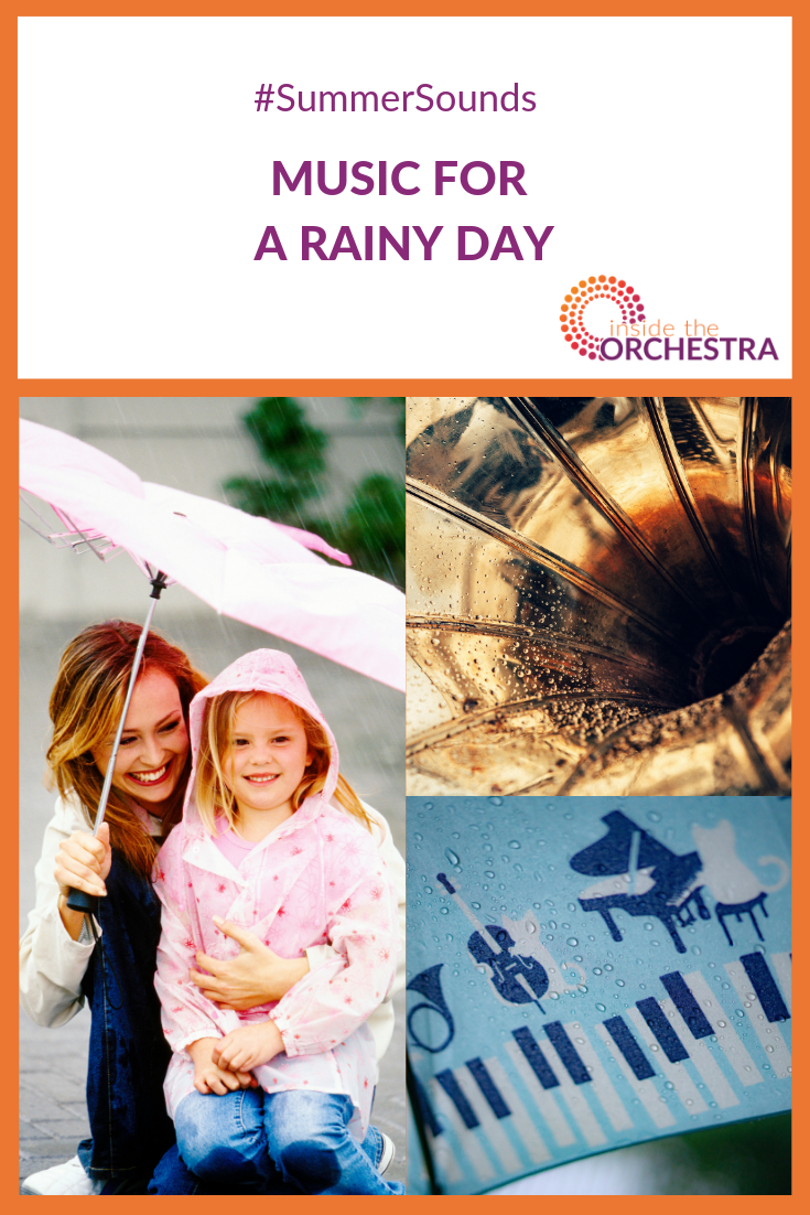 Kids will love this dramatic playlist perfect for a rainy day!   #musiceducation #kidsmusic #getinsidetheorchestra #outsidetheorchestra