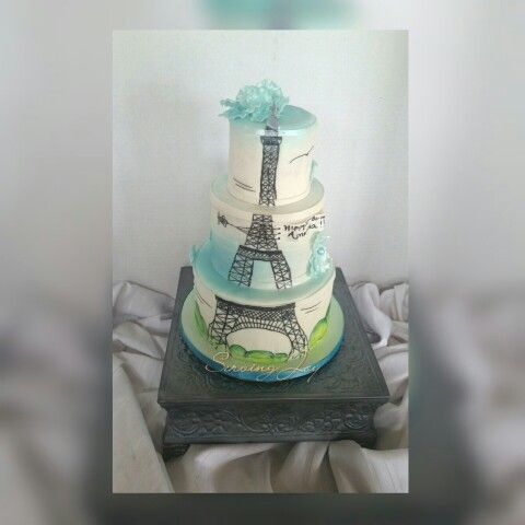 Eiffel tower cake A replicated design My Birthday Cakes