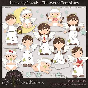 Heavenly Rascals CU Layered Templates