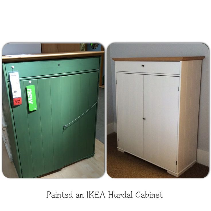 Painted An IKEA Hurdal Cabinet White.