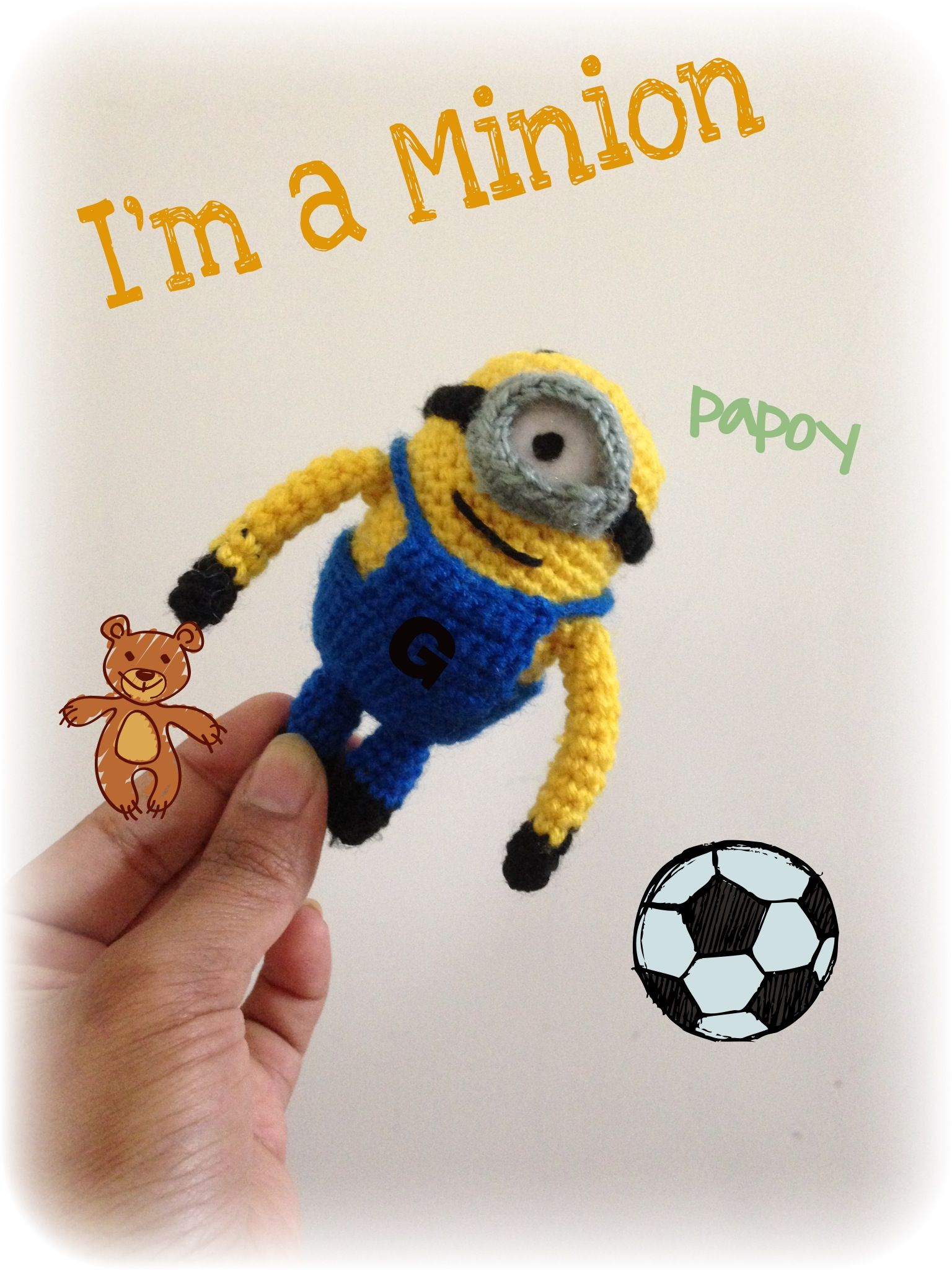 Minion crochet free pattern Thanks to little yarn friends  It helped me creating this cute Lil one