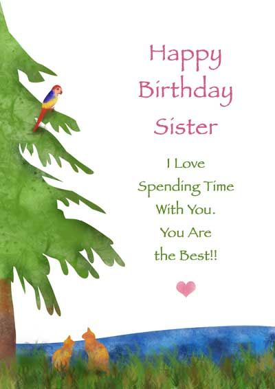 Printable Sister Birthday Cards